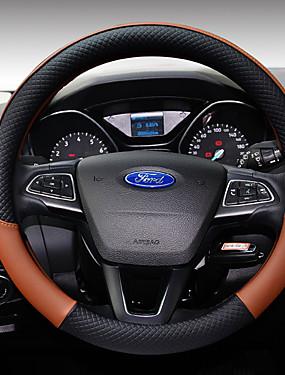preiswerte Innenraum Autozubehör-Lenkradbezüge Leder 38cm Kaffee / Schwarz / Violett / Schwarz / Weiß Für Ford Focus / Escort / Fiesta Alle Jahre