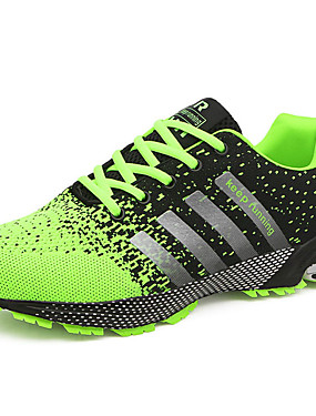 cheap Sports & Outdoors-Men's Comfort Shoes Tulle Summer / Fall Athletic Shoes Running Shoes Green / Red / Blue / Lace-up