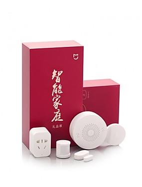 preiswerte Xiaomi Accessoires-Xiaomi Mijia Sicherheit Kit Aqra Drahtlose Alarmanlage Sicherheitssystem Kits 5 in 1 Fenstertürsensoren Sensor des menschlichen Körpers Funkschalter Pir Bewegungssensor Multifunktionale Smart Home Zig