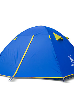 cheap Sports & Outdoors-HUILINGYANG 4 person Tent Outdoor Mountaineering Double Layered Camping Tent 2000-3000 mm for Camping / Hiking Beach Camping / Hiking / Caving 200*180*130 cm