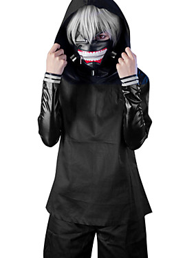 cheap Toys & Hobbies-Cosplay Suits Inspired by Tokyo Ghoul Ken Kaneki Anime Cosplay Accessories Coat Top Pants PU Leather Men's Women's Halloween Costumes / Shorts / Mask / Wig / Mask / Shorts