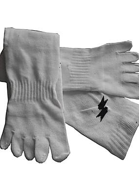 povoljno Timski sportovi-Nogometne čarape Čarape za prste Sport čarape / atletske čarape Muškarci Jednobojni Čarape za prste Nogomet Nogomet Zima Vanjski