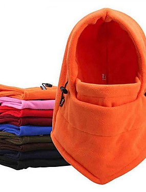 cheap Sports & Outdoors-Neck Gaiter Neck Tube Pollution Protection Mask Solid Color Warm Bike / Cycling Blue Grey Burgundy Winter for Men's Women's Adults' Skiing Camping / Hiking Cycling / Bike Solid Color 1 set