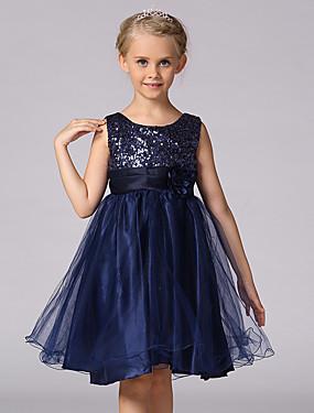 povoljno Trgovina vjenčanja-Djeca Djevojčice slatko Princeza Party Cvjetni print Jednobojni Šljokice Više slojeva Bez rukávů Haljina Crn