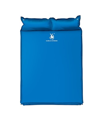 cheap Sports & Outdoors-HUILINGYANG Sleeping Pad Self-Inflating Sleeping Pad Outdoor Camping Thick Inflated Thicken Camping / Hiking Fishing Beach for 2 person All Seasons Blue / Double Size