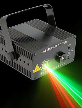 baratos Instrumentos Musicais-U'King Luz de Palco Laser DMX 512 / Master / Slave / Ativo por Som 9 W para Exterior / De Festa / Palco Profissional