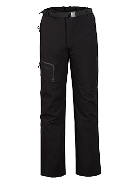 cheap Sports & Outdoors-Men's Hiking Pants Softshell Pants Winter Outdoor Thermal / Warm Windproof Fleece Lining Breathable Softshell Bottoms Hunting Fishing Hiking Black S M L XL XXL - Cikrilan / Stretchy / Wear Resistance