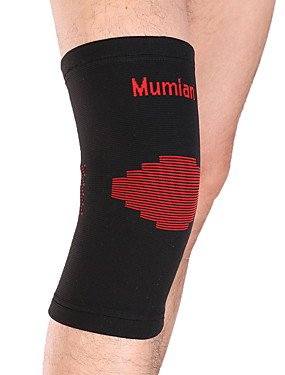 cheap Sports & Outdoors-Knee Brace Thigh Support for Yoga Running Hiking Outdoor Compression Stretchy Nylon Lycra Spandex 1pc Sports Outdoor Black