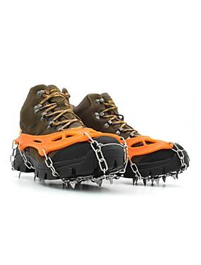 preiswerte Skis, Snowboards & Schneeschuhe-Schnee Stollen Steigeisen Outdoor Rutschfest Edelstahl Metalllegierung Gummi Klettern Outdoor Übungen Schwarz Orange