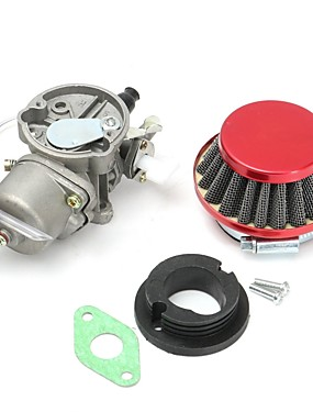 cheap Carburetors-Carburetor Carb Air Filter Intake Manifold Gasket Assembly For 47cc 49cc Mini Moto Quad ATV Pocket Bike Mini ATV Quad Dirt Pocket Bike Cag Mini Moto Moped Scooter Motocross