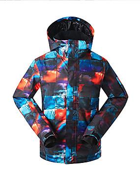 cheap Sports & Outdoors-GSOU SNOW Men's Ski Jacket Skiing Ski / Snowboard Waterproof Windproof Warm Eco-friendly Polyester Silk Cloth Down Jacket Ski Wear / Winter / Camo / Camouflage