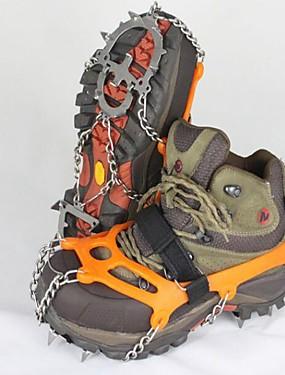 preiswerte Skis, Snowboards & Schneeschuhe-Schnee Stollen Steigeisen Outdoor Rutschfest Edelstahl Metalllegierung Gummi Klettern Outdoor Übungen Orange