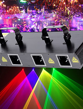 cheap Musical Instruments-U'King Disco Lights Party Light Laser Stage Light 7 DMX 512 / Master-Slave / Sound-Activated 30 W Outdoor / Party / Stage Professional Red Yellow Green for Dance Party Wedding DJ Disco Show Lighting