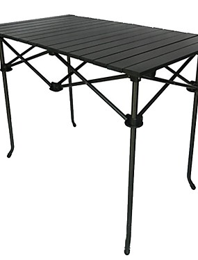 cheap Sports & Outdoors-Camping Table Foldable Folding Stainless Steel Aluminium alloy for 1 person Camping BBQ Autumn / Fall Spring Black