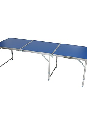 cheap Sports & Outdoors-Camping Table Portable Foldable Folding Aluminium alloy for 5 - 7 person Beach Camping BBQ Autumn / Fall Spring Silver Dark Blue