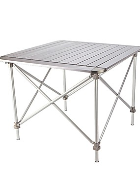 cheap Sports & Outdoors-Camping Table Portable Ultra Light (UL) Foldable Compact Aluminium alloy for 3 - 4 person Camping / Hiking Hunting Fishing Beach Autumn / Fall Spring Silver
