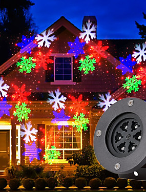 cheap Musical Instruments-U'King LED Stage Light / Spot Light Sound-Activated / Music-Activated for For Home / Outdoor / Party Christmas / Professional / Snowflake