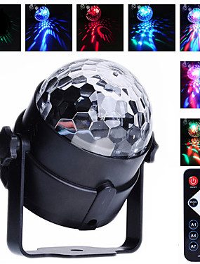 cheap Musical Instruments-U'King Disco Lights Party Light LED Stage Light / Spot Light Sound-Activated / Remote Control / Music-Activated 6 W For Home / Outdoor / Party Portable RGB for Dance Party Wedding DJ Disco Show