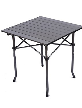 cheap Sports & Outdoors-Camping Table Portable Lightweight Foldable Folding Aluminium alloy for Beach Camping Travel BBQ Autumn / Fall Spring Black
