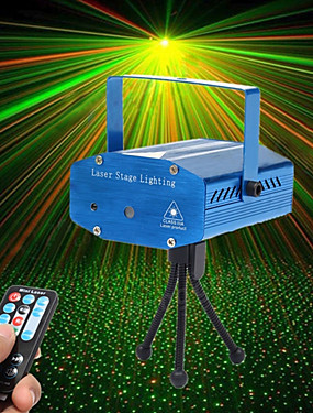 cheap Musical Instruments-U'King Laser Stage Light Sound-Activated / Remote Control / Music-Activated 10 W for For Home / Outdoor / Party Professional