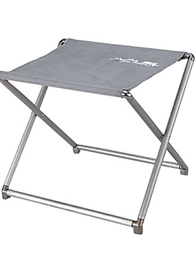 cheap Sports & Outdoors-Camping Stool Portable Ultra Light (UL) Foldable Compact Aluminium alloy for 1 person Camping / Hiking Hunting Fishing Beach Autumn / Fall Spring Silver