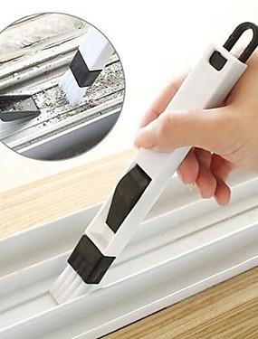 preiswerte Haus & Garten-2-in-1-Multifunktionsfenster-Slotbürste mit Kehrschaufel Tastaturschublade Garderobe Ecke Spaltentstaubung Reinigungsbürste