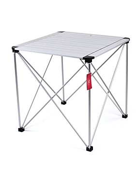 cheap Sports & Outdoors-Camping Table Portable Foldable Compact Durable Aluminium alloy for 1 person Camping / Hiking Hunting Fishing Beach Autumn / Fall Spring Silver