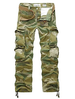 cheap Sports & Outdoors-Men's Hiking Cargo Pants Camo Winter Outdoor Multi-Pocket Wear Resistance Cotton Pants / Trousers Hunting Hiking Outdoor Exercise Army Green S M L XL XXL