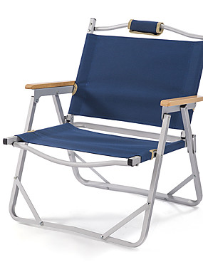 cheap Sports & Outdoors-Camping Chair Portable Foldable Compact Durable Aluminium alloy for Camping / Hiking Hunting Fishing Beach Autumn / Fall Spring Dark Blue