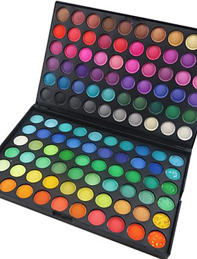cheap Makeup For Eyes-120 Colors Gliltter Eyeshadow Palette Matte Eye Shadow Pallete Shimmer and Shine Nude Make Up Palette Set Kit Cosmetic