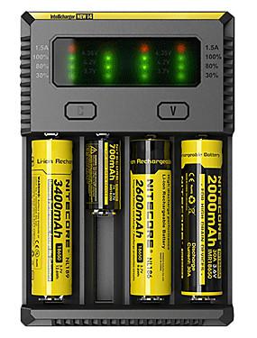 cheap Sports & Outdoors-Nitecore NEW-I4 Battery Charger for Li-ion Ni-Cd Ni-MH Batteries Portable Professional Short Circuit Protection Over Charging Protection Plastic UK EU USA Plug Camping Hiking Fishing
