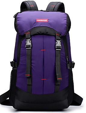 cheap Sports & Outdoors-35-55 L Hiking Backpack Breathable Waterproof Zipper Travel Outdoor Hiking Climbing Camping Nylon Black Purple Blue / Yes