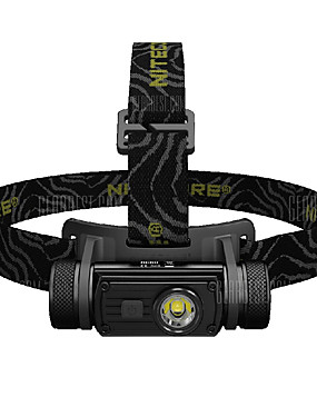 cheap Sports & Outdoors-Nitecore HC60 Headlamps Headlight Water Resistant / Waterproof 1000 lm LED Cree® XM-L U2 1 Emitters Manual 8 Mode with Battery Water Resistant / Waterproof Portable Skype Multiple Charging Modes