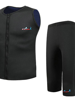 cheap Sports & Outdoors-Bluedive Men's Shorty Wetsuit 2mm Neoprene Diving Suit Thermal / Warm Quick Dry 2-Piece - Swimming Diving Surfing Patchwork / Stretchy / 2 Piece