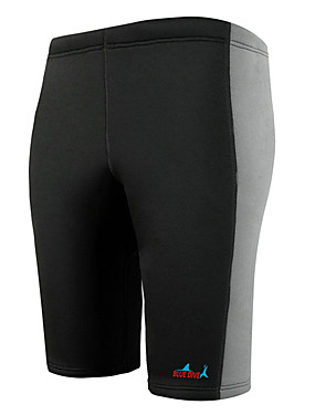 cheap Sports & Outdoors-Bluedive Men's Wetsuit Shorts 3mm Neoprene Bottoms Thermal / Warm Quick Dry Swimming Diving Surfing Patchwork / Stretchy