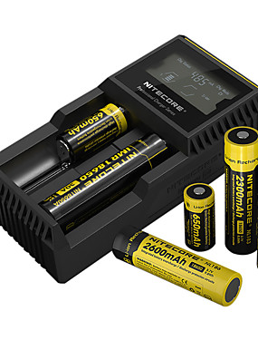 cheap Sports & Outdoors-Nitecore UM20 Battery Charger 5 V for Li-ion Smart USB LCD Circuit Detection Circuit Protection 18650,18490,18350,17670,17500,16340(RCR123), 14500,10440 Camping / Hiking / Fishing
