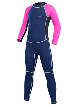 cheap Sports & Outdoors-Bluedive Boys' Girls' Full Wetsuit 2mm Neoprene Diving Suit Thermal / Warm UV Sun Protection Quick Dry Long Sleeve Back Zip - Swimming Diving Surfing Patchwork / Stretchy / Kid's