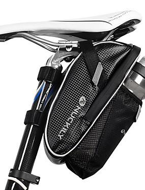 cheap Sports & Outdoors-Nuckily Bike Saddle Bag Reflective Cycling for Black Cycling / Bike / Waterproof Zipper