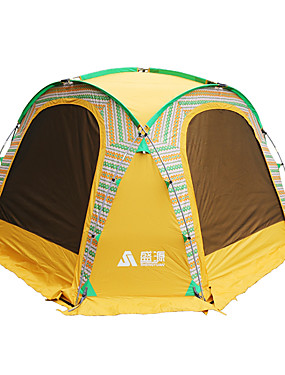 cheap Sports & Outdoors-Sheng yuan 8 person Tent Outdoor Sun Protection Folding Single Layered Camping Tent 1500-2000 mm for Camping / Hiking Fishing Picnic Oxford cloth 350*350*230 cm