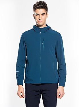 cheap Sports & Outdoors-Snowwolf® Men's Hiking Jacket with Pants Outdoor Quick Dry High Elasticity Boyfriend Gift Top Spandex Full Length Visible Zipper Casual Outdoor Exercise Traveling Black / Blue / Black / Army Green
