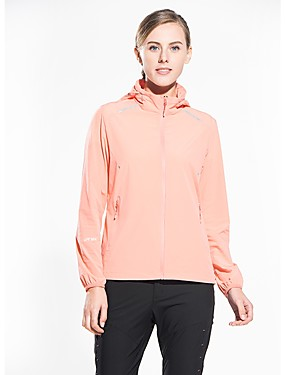 cheap Sports & Outdoors-Snowwolf® Women's Hiking Jacket with Pants Outdoor UV Resistant Super Slim High Elasticity Top Spandex Full Length Visible Zipper Casual Outdoor Exercise Traveling White / Fuchsia / Orange / Green