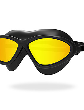cheap Sports & Outdoors-Swimming Goggles Waterproof Anti-Fog Anti-UV Scratch-resistant Shatter-proof Anti-slip Strap For Adults' Silica Gel PC Yellows Whites Reds Green Light Gray Light Blue