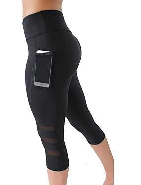 T-Sport Yoga Pants Mesh Martial Arts Kickboxing Trousers Freestyle Striped Black