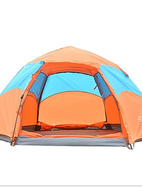 cheap Sports & Outdoors-Sheng yuan 4 person Automatic Tent Outdoor Windproof Rain Waterproof Double Layered Automatic Dome Camping Tent 1000-1500 mm for Fishing Outdoor Exercise Polyester Polyester / Polyamide Oxford