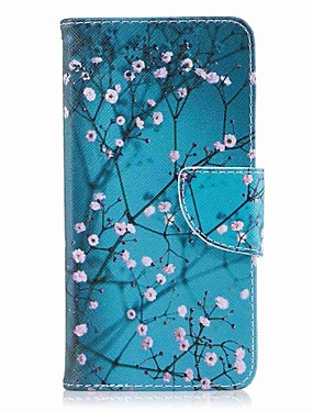 cheap Huawei Case-Case For Huawei P10 Plus / P10 Lite / P10 Wallet / Card Holder / with Stand Full Body Cases Flower Hard PU Leather
