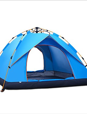 cheap Sports & Outdoors-Shamocamel® 2 person Automatic Tent Outdoor Mountaineering Single Layered Automatic Dome Camping Tent 1500-2000 mm for Fishing Outdoor Exercise Picnic Glass fiber Polyester Oxford 200*150*135 cm
