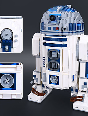 cheap Toys & Hobbies-R2-D2 Building Blocks Construction Set Toys Educational Toy 2127 pcs Classic Theme Robot compatible Legoing Stress and Anxiety Relief Focus Toy Boys' Girls' Toy Gift