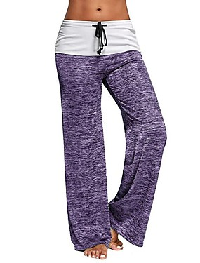 cheap Sports & Outdoors-Women's Yoga Pants Drawstring Pants / Trousers Breathable Quick Dry Violet Black Grey Cotton Zumba Gym Workout Running Sports Activewear Micro-elastic