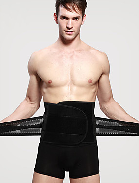 cheap Sports & Outdoors-Lumbar Belt / Lower Back Support Corset Chinlon Spandex Fabric Elastic Breathable Trainer Exercise & Fitness Running Gymnatics For Men's Sport