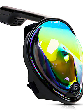 cheap Sports & Outdoors-Diving Mask Full Face Mask Underwater UV-400 Protection 180 Degree View GoPro Compatible Anti Fog Single Window - Swimming Diving Snorkeling Scuba Silica Gel - For Adults Pink Green Blue Black